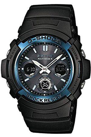 Casio G-SHOCK Orologio 20 BAR, Azzurro/Nero, con Ricezione Segnale Radio e Funzione Solare, Analogico - Digitale, Uomo, AWG-M100A-1AER
