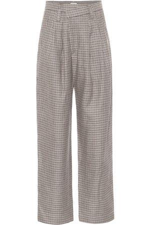 Brunello Cucinelli Pantaloni a gamba larga in misto lana