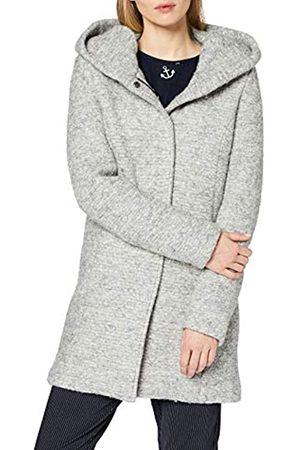 Only Onlsedona Boucle Wool Coat Otw Noos Giubbotto, Grigio , 40 Donna