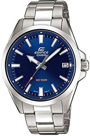 Casio EDIFICE Orologio, Robusta Cassa, 10 BAR, Azzurro, Uomo con Cinturino in Acciaio Inox EFV-100D-2AVUEF