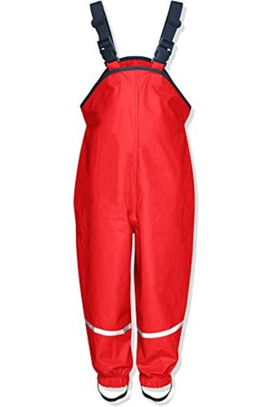 Playshoes Regen-Latzhose, Salopette per bambini, manica lunga, Rosso , 80 cm