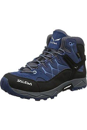 Salewa Jr Alp Trainer Mid GTX, Stivali da Escursionismo Alti Unisex-Bambini, Blu , 38 EU