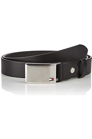 Tommy Hilfiger TH Plaque Belt 3.5 ADJ Cintura, Nero , 95 cm Uomo