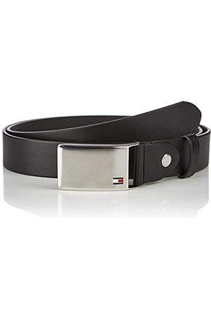 Tommy Hilfiger TH Plaque Belt 3.5 ADJ Cintura, Nero , 95 cm Uomo
