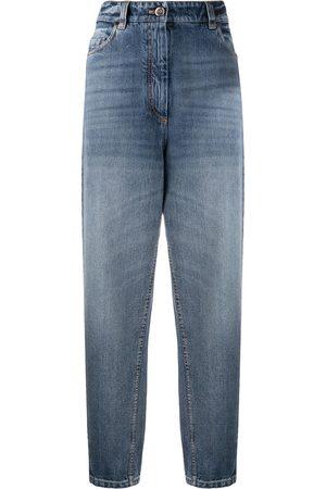 Brunello Cucinelli Jeans mom a vita alta - Di colore