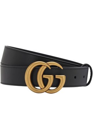 "Gucci Cintura ""gg"" In Pelle 3cm"