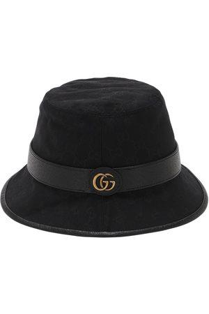"""Gucci Cappello Bucket """"gg"""" In Tela Di Cotone"""