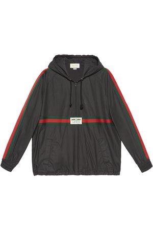 Gucci Uomo Giacche - Giacca a vento in cotone rivestito con etichetta