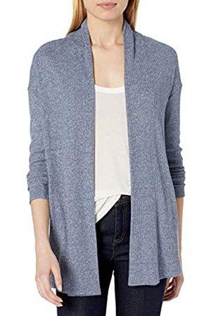 Daily Ritual Accogliente Maglia a Coste Drappeggiato Anteriore Cardigan Maglione Sweaters, Marl, US XXL
