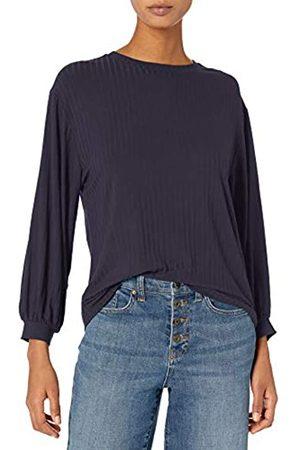 Daily Ritual Rayon Spandex Wide Rib Blouson-Sleeve Felpa Athletic-Shirts, , US XL