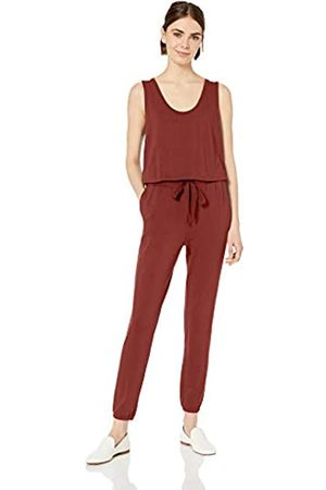 Daily Ritual Marchio Amazon - Supersoft Terry Sleeveless Jumpsuit Pants, Brick, US L