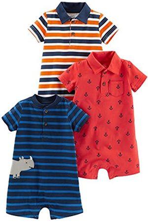Simple Joys by Carter's Bambina Tute corte - Pagliaccetto - Bebè maschietto Orange Blue Stripe/Navy Stripe/Red Anchors 24 Months