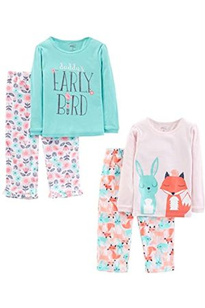 Simple Joys by Carter's 4-Piece Pajama Set Sets, Daddy/Fox/Rabbit, 3T