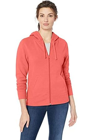 Amazon French Terry Fleece Full-Zip Hoodie Fashion-Hoodies, Bright Coral, US XL