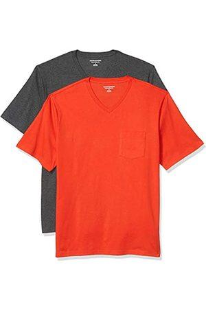 Amazon 2-Pack Loose-Fit V-Neck Pocket T-Shirt Fashion-t-Shirts, Navy Scuro, US XXL