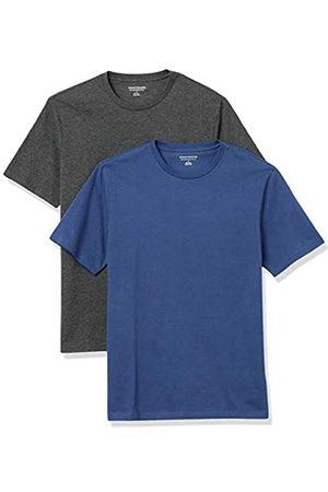 Amazon 2-Pack Slim-Fit Crewneck T-Shirt Fashion-t-Shirts, Blue/Charcoal Heather, US XXL