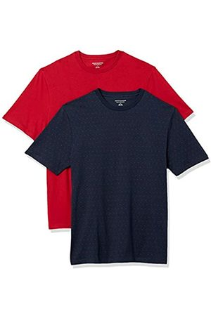 Amazon 2-Pack Loose-Fit Crewneck T-Shirt Fashion-t-Shirts, Red DOT/Red, US S