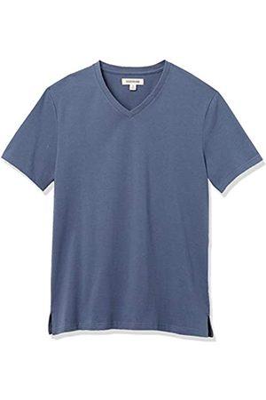 Goodthreads Heavyweight Oversized Short-Sleeve V-Neck T-Shirt Fashion-t-Shirts, Denim, US L