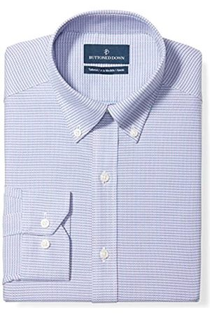 """Buttoned Down Tailored Fit Button-Collar Pattern Non-Iron Dress Shirt Camicia, , 18.5"""" Neck 35"""" Sleeve"""