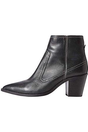 FIND Donna Stivaletti - Marchio Amazon - Stitch Leather High Western Stivaletti, Black), 39 EU