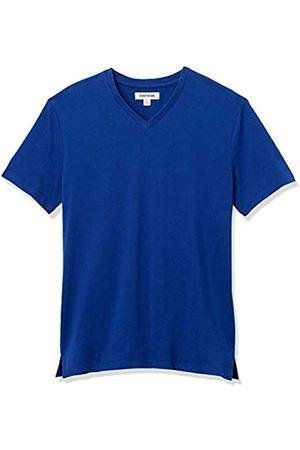 Goodthreads Heavyweight Oversized Short-Sleeve V-Neck T-Shirt Novelty-t-Shirts, Bright Blue, US S