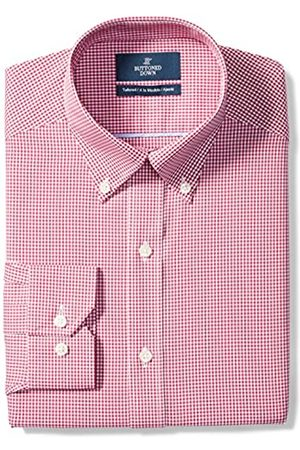 """Buttoned Down Tailored Fit Button-Collar Pattern Non-Iron Dress Shirt Camicia, , 17.5"""" Neck 35"""" Sleeve"""