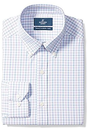 """Buttoned Down Tailored Fit Button-Collar Pattern Non-Iron Dress Shirt Camicia, , 15"""" Neck 35"""" Sleeve"""