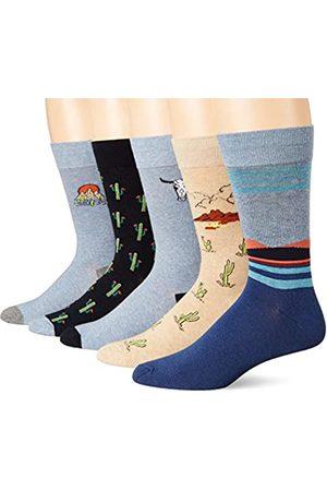 Goodthreads Confezione da 5 calzini standard da uomo, motivo cactus
