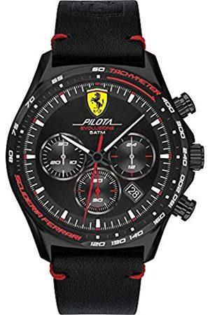 Scuderia Ferrari Orologio Analogico Quarzo Uomo con Cinturino in Pelle 830712