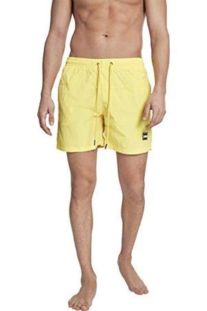 Urban classics Block Swim Shorts Costume Uomo con Tasche, Pantaloncini da Bagno con Chiusura a Coulisse ed Elastico in Vita, Boxer da Spiaggia, Piscina, Mare