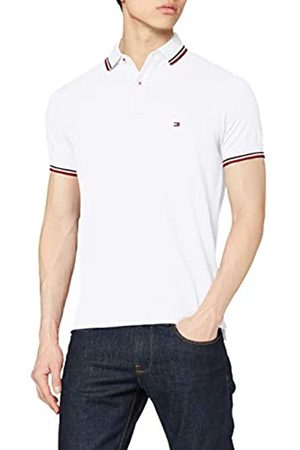 Tommy Hilfiger Tommy Tipped Slim Polo, Bianco , Large Uomo