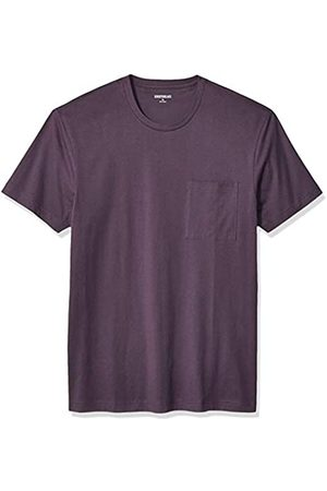 Goodthreads Uomo Polo - Short-Sleeve Crewneck Cotton T-Shirt w/Pocket Fashion-t-Shirts, Porpora in tenso, US L