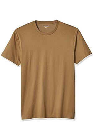 Goodthreads Uomo Polo - Short-Sleeve Crewneck Cotton T-Shirt Fashion-t-Shirts, Medium Brown, US