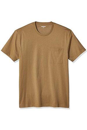 Goodthreads Short-Sleeve Crewneck Cotton T-Shirt w/Pocket Fashion-t-Shirts, Medium Brown, US L