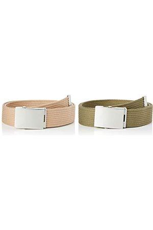 FIND Marchio Amazon - Cintura in Tessuto Uomo, Pacco da 2, Multicolore ., M, Label: M