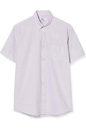 FIND Marchio Amazon - Camicia Oxford a Manica Corta Uomo, Purple , XS, Label: XS