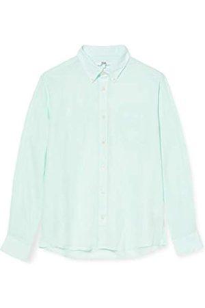 FIND Uomo Casual - Marchio Amazon - Camicia di Lino a Manica Lunga Uomo, ., XL, Label: XL