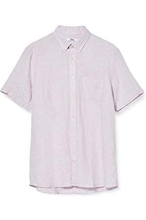 FIND Marchio Amazon - Camicia di Lino a Manica Corta Uomo, Purple , M, Label: M