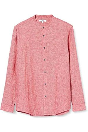 find. Long Sleeve Linen Shirt Camicia Uomo, Red , S