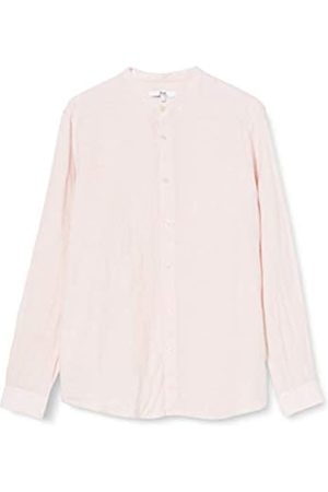 FIND Uomo Casual - Marchio Amazon - Camicia di Lino a Manica Lunga Uomo, Pink , XL, Label: XL
