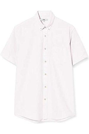 FIND Marchio Amazon - Camicia Oxford a Manica Corta Uomo, Pink , S, Label: S
