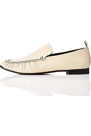 FIND Soft Leather Mocassini, Avorio off White), 37 EU