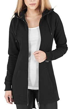 Urban classics Pullover Sweat Parka, Felpa Donna, Nero , Large
