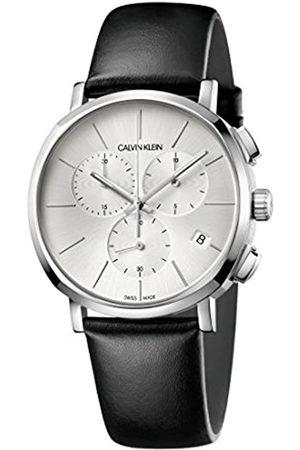Calvin Klein Orologio Cronografo Quarzo Uomo con Cinturino in Pelle K8Q371C6