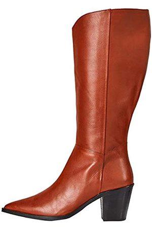 FIND Marchio Amazon - Knee High Pull On Leather Western Stivali Alti, Picante), 40 EU