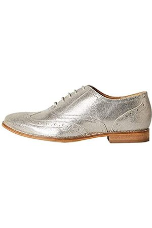 FIND Marchio Amazon - Leather Scarpe Stringate Brouge, Silber , 40 EU