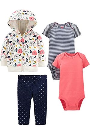 Simple Joys by Carter's 4-Piece Jacket, Pant, Bodysuit Set Infant-And-Toddler-Pants-Clothing-Sets, Floreale, 18 Months
