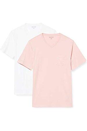 Amazon 2-Pack Slim-Fit V-Neck Pocket T-Shirt Fashion-t-Shirts, Chiaro/ , US