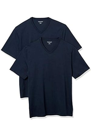 Amazon 2-Pack Loose-Fit V-Neck T-Shirt Fashion-t-Shirts, Navy Scuro, US S