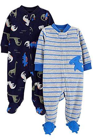 Simple Joys by Carter's Confezione da 2 Tasche in Pile con Cerniera A 2 Vie, per Dormire E Giocare. Infant-And-Toddler-Sleepers, Squalo /Dinosauri, Preemie
